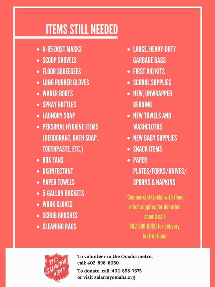 salarmy items needed